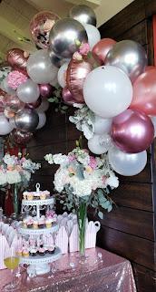 Bridal shower sweet table decoration