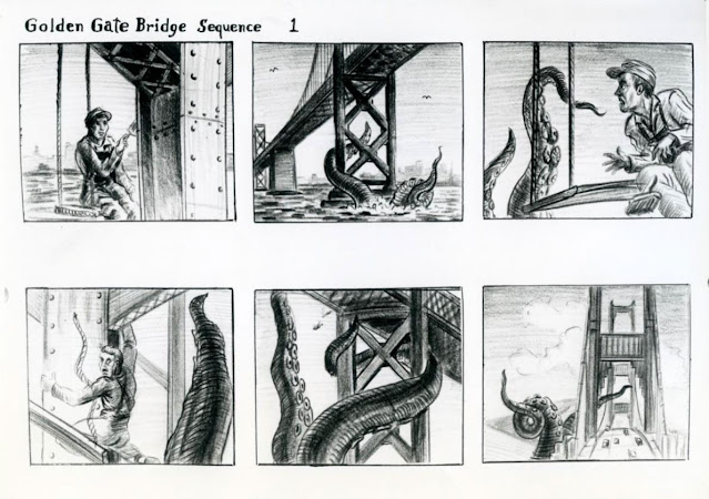 Ray's Storyboards for IT Came from Beneath the Sea