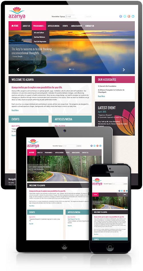 Responsive Website Design- Spiritual Consultation