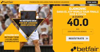 betfair supercuota Djokovic gana torneo maestros tenis 12 noviembre