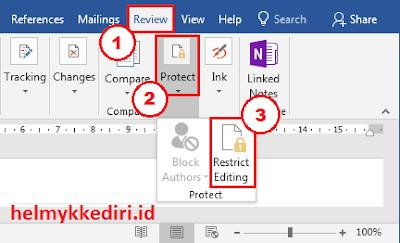 Mengatasi file restrict editing