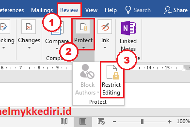 Mengatasi file restrict editing dimicrosoft word