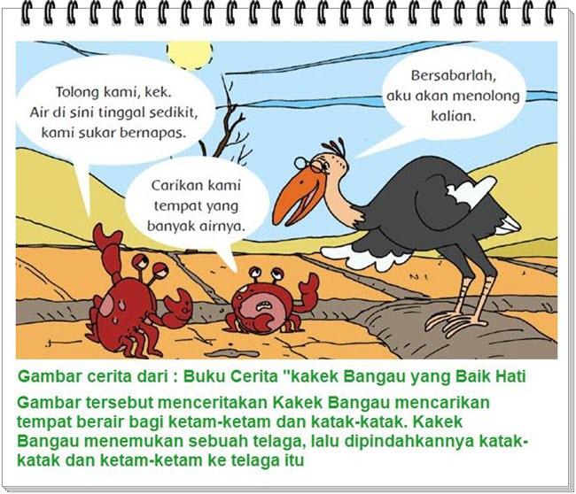 Gambar Cerita Kakek Bangau