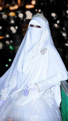 خلفيات عروسة، خلفية عروسة منقبة جميلة جدا