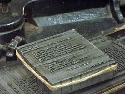 peça de tipografia do museu nacional da imprensa