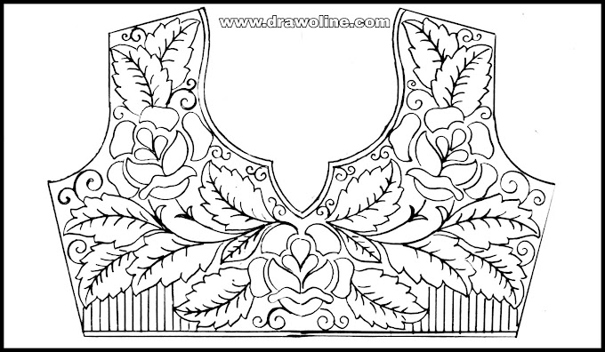 Hand embroidery(latest)designs for blouse/how to draw blouse designs pattern for embroidery