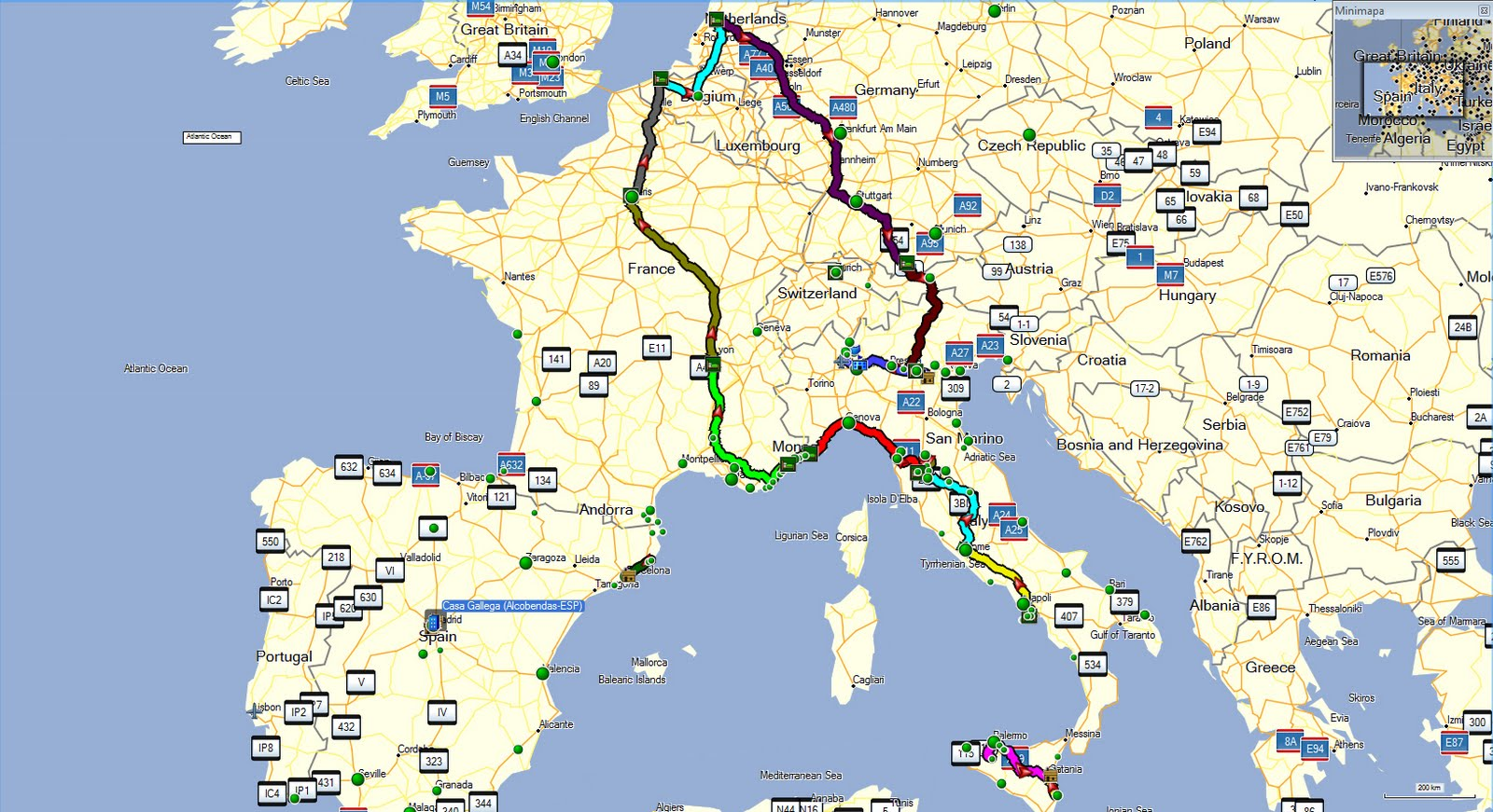 mapa auto europa Viajando Por Italia Mapa mapa auto europa