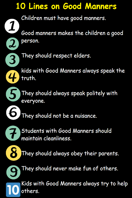Some Points About Good Manners