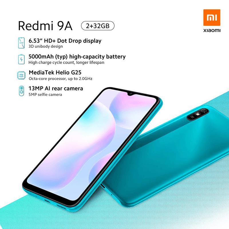 Key specs of Redmi 9A
