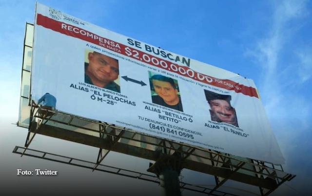 """¡Se buscan! Ofrecen en Tamaulipas $2 millones de recompensa por cabeza para localizar a capos """"El Pelochas"""", El Betillo y El Panilo"""
