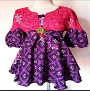 Contoh Model Baju Batik Kerja Wanita 2018