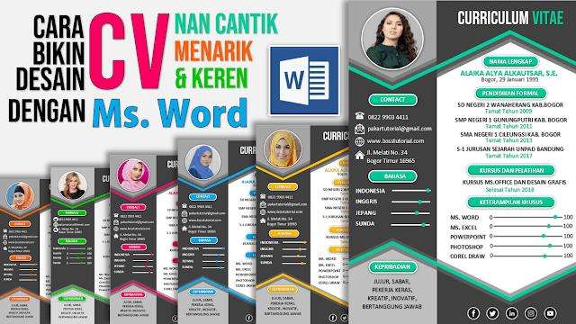 Contoh Cara Buat CV Lamaran Kerja dengan Word