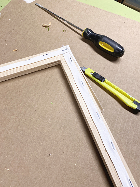 removing the canvas from back of frame