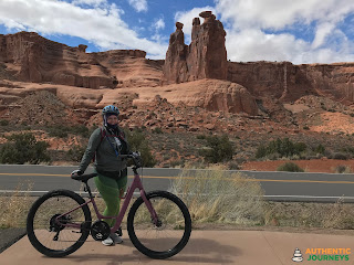 Cycling in Arches National Park