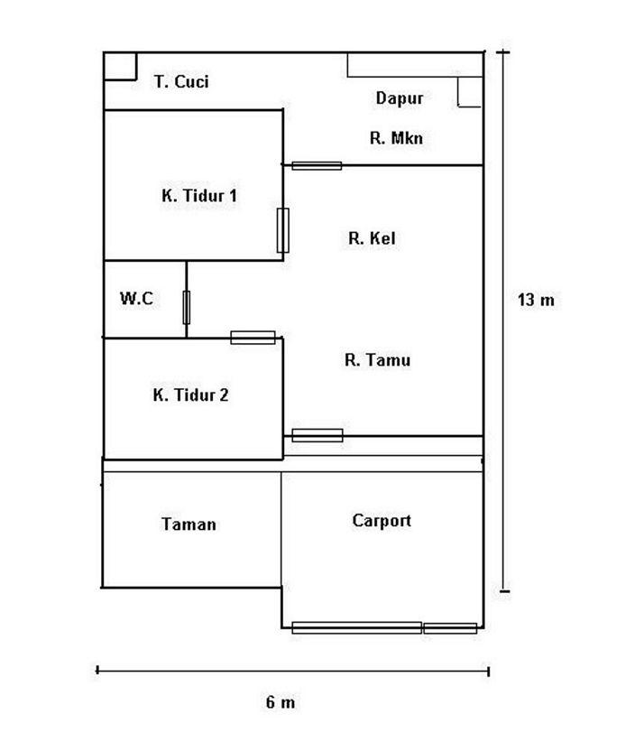 denah rumah simple yang bagus