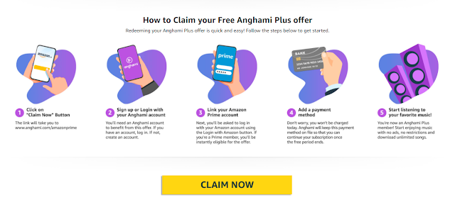 Get  Anghami Plus Free  for 6months with Amazon prime