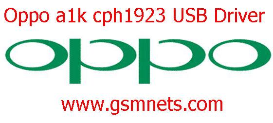 Oppo a1k cph1923 USB Driver