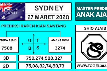 Angka Main Jitu Togel Sydney Jumat 27 Maret 2020