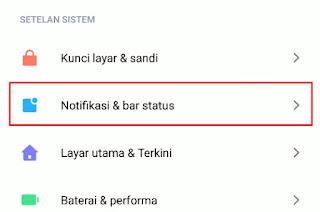 Cara Agar Bar Notifikasi Tidak Dapat Dibuka Saat Lock Screen Xiaomi