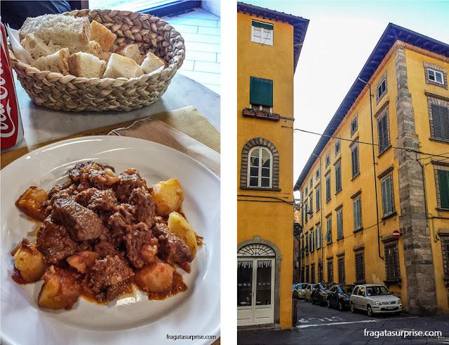 Comer em Luca, Toscana, Itália