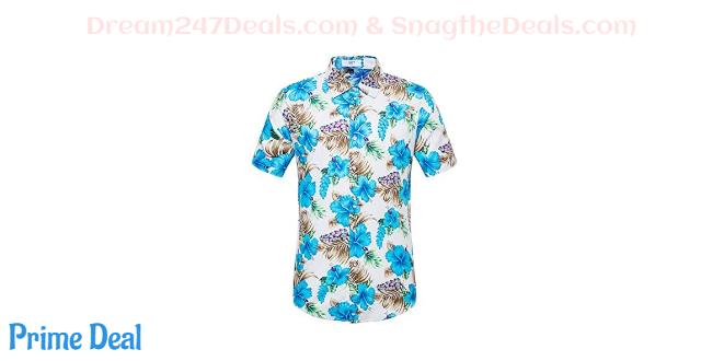 50% off Men's Hawaiian Flower Print Shirt