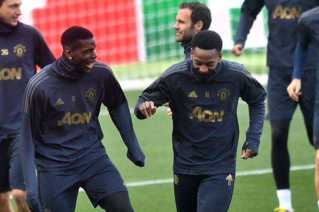 Paul Pogba Anthony Martial Manchester United Training