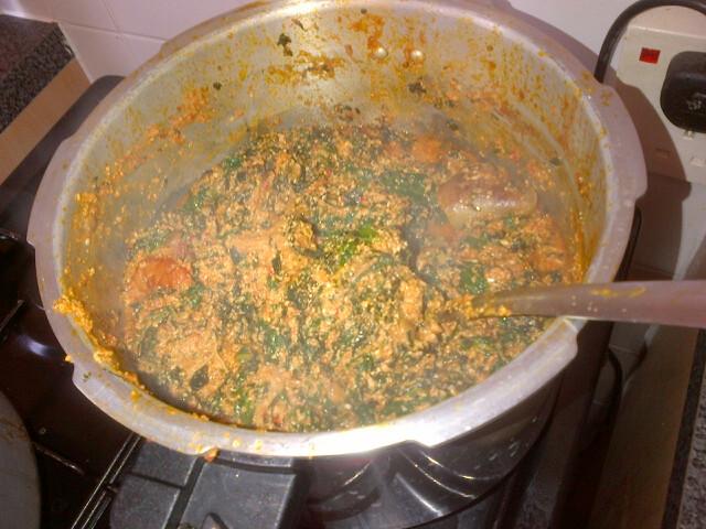 Image result for burnt egusi soup