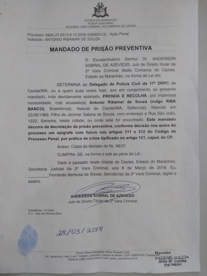HOMICÍDIO - Delegacia Regional cumpre mandado de prisão preventiva em Caxias