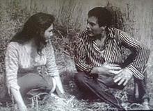 Schiaffino and Marcello Mastroianni in a  scene from A Piece of the Sky