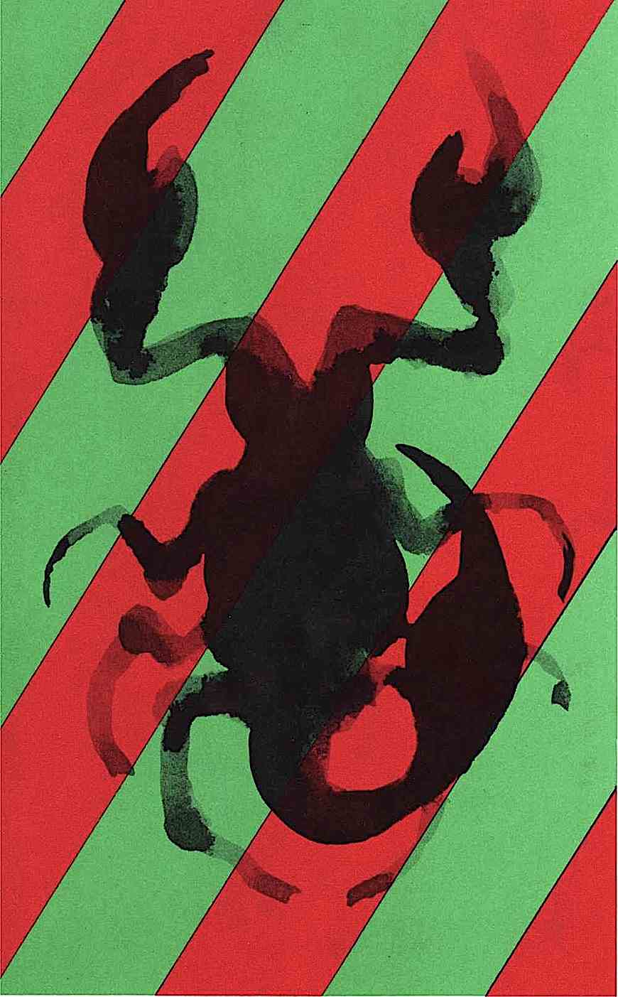 A Milton Glaser color illustration of a scorpion