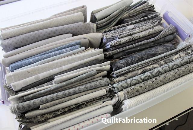 gray fabric bin