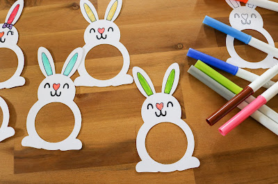 No Chocolate Easter Gifts with the Cricut Maker - Free SVG Files for Easter - PlayDoh Bunnies Classroom Gift