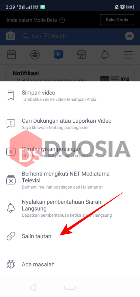 save video facebook android