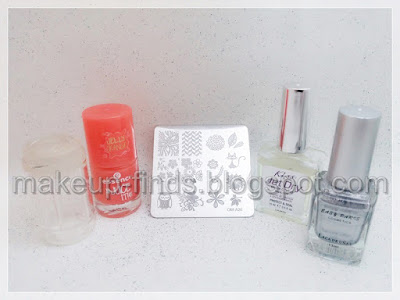 Stamping: Manicura Otoñal con Base Nude (probando..:)