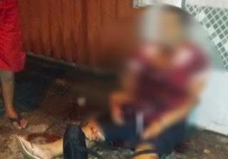Mulher é atingida por oito facadas e dois tiros em praça de Mangabeira