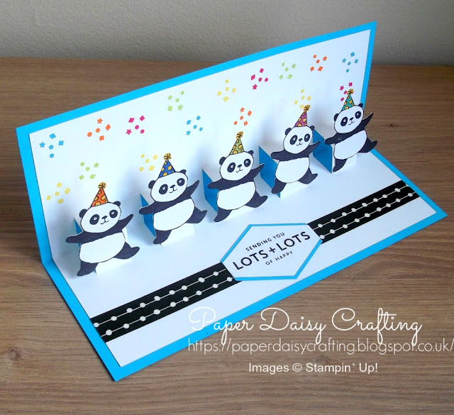 Party Pandas Pop Up card Stampin' Up!
