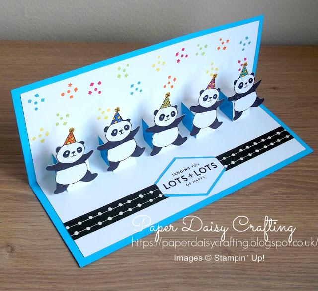 Party Pandas Pop Up card Stampin' Up!