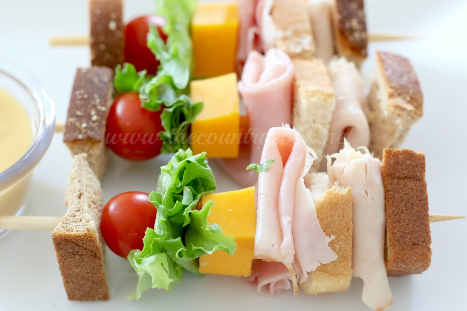 Club Sandwich on a Stick - The Country Cook