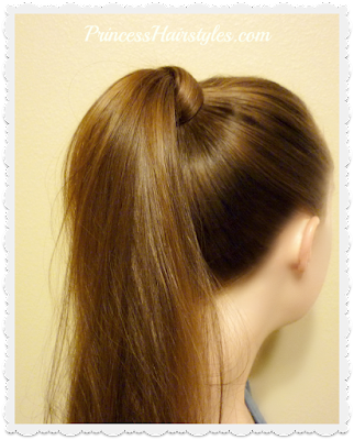 How to wrap the top of a ponytail with hair. No extra elastics or bobby pins!