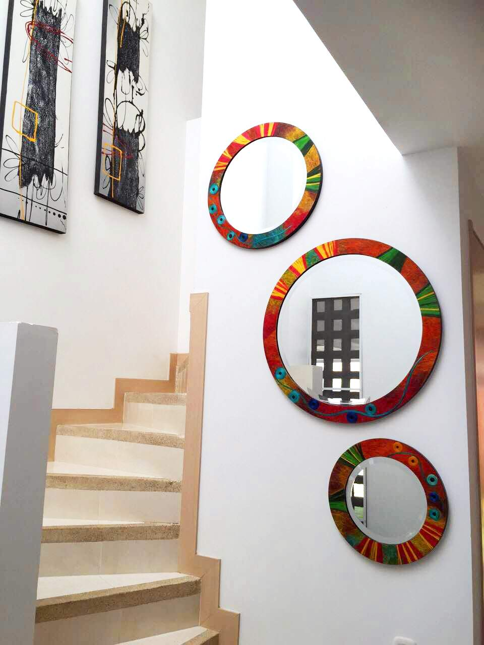 Espejos en decoracion cuadros instalados decorations for Espejos redondos para decoracion