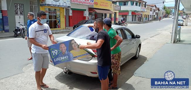 ITAGIMIRIM: Adesivaço marca 1º dia de campanha eleitoral do candidato Luizinho 4
