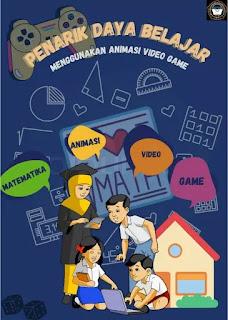 Poster Penarik daya belajar menggunakan animasi video game