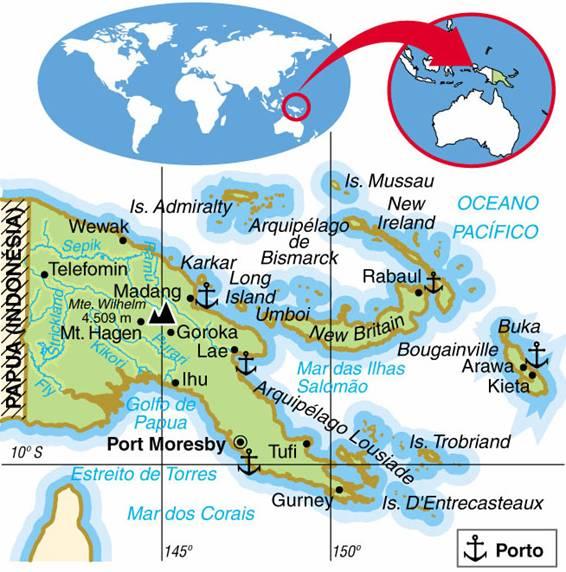 PAPUA NOVA GUINÉ, ASPECTOS GEOGRÁFICOS E SOCIOECONÔMICOS DE PAPUA NOVA GUINÉ