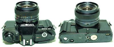 Minolta X-300 (Black) Body #926, Minolta MD Celtic 28mm 1:2.8 #947