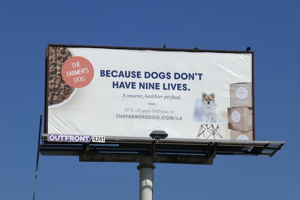 Farmers Dog nine lives billboard