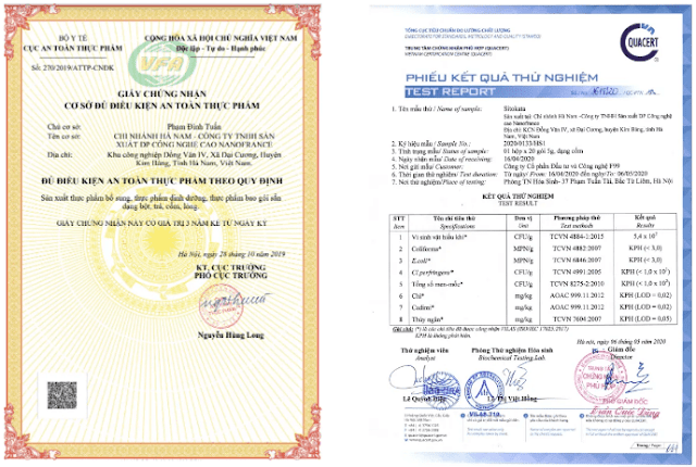 Giấy phép kinh doanh và giấy thử nghiệm sản phẩm