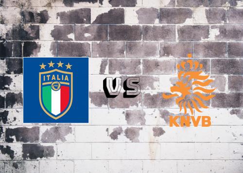 Italia vs Países Bajos  Resumen y Partido Completo