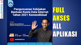 Bantuan kuota internet Kemdikbud Tahun 2021