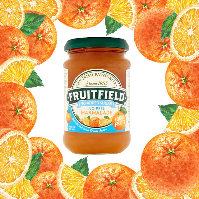 Fruitfield Marmalade Orange Watercolor Realistic illustrations by Irina Sztukowski
