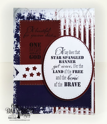 Our Daily Bread Designs Stamp Set: Let Freedom Ring, Paper Collection: Stars and Stripes, Custom Dies: Sparkling Stars, Double Stitched Rectangles, Double Stitched Ovals, Double Stitched Pennant Flags, Ovals, Sparkling Stars